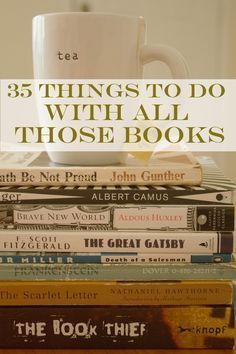 35 Things To Do With All Those Books (I want the book-cave! Reading Lists, Book Lists, I Love Books, Books To Read, Book Art, Old Books, Vintage Books, Book Crafts, Map Crafts