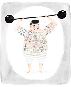 STRONG MAN - Amy Borrell | Illustration & Design