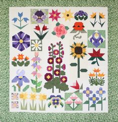 """""""Wallflowers"""" Maureen Stevens, first place in Small Pieced by One"""