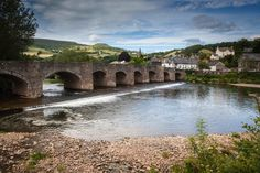 The River Usk runs past Crickhowell - great for brown trout or salmon fishing or just cooling off on a hot day #crickhowell #riverusk #flyfishing #salmonfishing