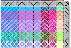 Colorful twill pattern  http://www.wovenrainbows.com/