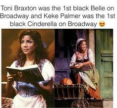 Toni Braxton Black Belle on Broadway Keke Palmer Black Cinderella on Broadway Black Girls Rock, Black Girl Magic, Faith In Humanity Restored, Black History Facts, Keke Palmer, Toni Braxton, Badass Women, The More You Know, African American History