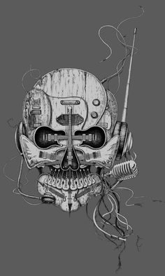 Punk Radio for t-shirt design by Eddie Yau, via Behance