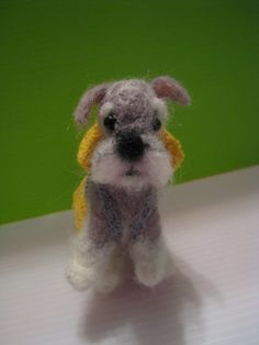 needle felted pet Schnauzer by snoopyislove on Etsy
