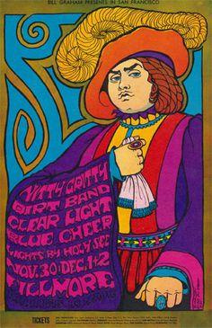 Nitty Gritty Dirt Band ....... Clear Light .... Blue Cheer .... .  Fillmore ...  art by .... BONNIE MacLEAN