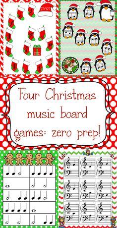 Christmas for the Busy Teacher- four music games, zero prep work!