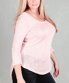 Love this Pink Layered Racerback Top - Plus on #zulily! #zulilyfinds