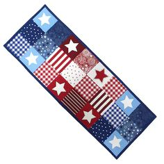 Celebrate Americana Together Patchwork Table Runner - 36""