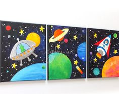 Art for Kids OUT of THIS WORLD Solar System 14x11 by nJoyArt