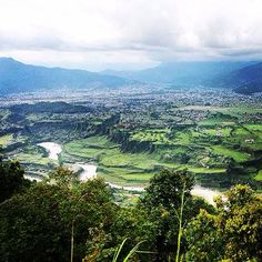 Pokhara Valley from the surrounding hills. Nepal
