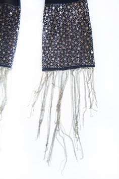 Studded scarf fringes scarfs cecilia saved by cecilia de bucourt