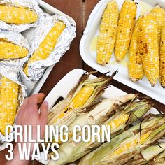 How to Grill Corn on the Cob Here's the best way to grill corn in the husk, shucked and foil-wrapped, with tips on how long to cook it and more. Cook Corn On Grill, How To Cook Corn, Cooking On The Grill, How To Roast Corn, How To Grill Corn, Meals On The Grill, Grilling Corn, Barbecue Recipes, Grilling Recipes