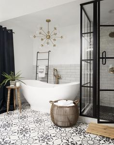 house call: caution Shelleys house will likely cause bathroom envy!. #bathrenovations, #cementtilesuk, #cementtilesuk, #bathrenovations, #bathremodel, #backyardfirepitsonabudget