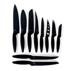 All black knife set