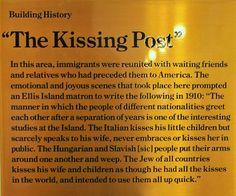 kissing post ellis island - Google Search