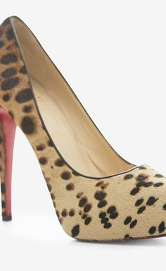 Christian Louboutin Camel And Brown Pump *swoon*
