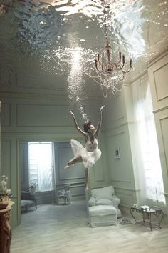This reminds me of a reoccurring childhood dream where I could swim although my house...what a great feeling :) <3