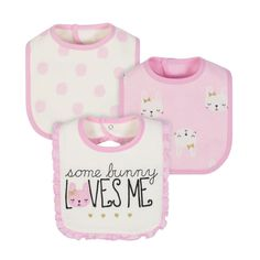 Look what I found on Pink Bunny Organic Cotton Bib Set Baby Clothes Brands, Baby Doll Clothes, Baby Dolls, Cute Baby Boy, Cute Babies, Baby Girl Accessories, Baby Fabric, Little Girl Fashion, Baby Bibs