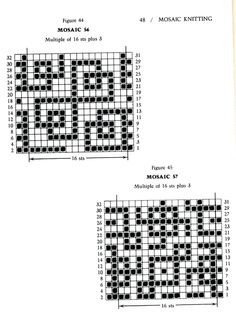 Mosaic Knitting Barbara G. Walker (Lenivii gakkard) Mosaic Knitting Barbara G. Walker (Lenivii gakkard) #53