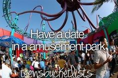 i had a date at the fair in high school. so i'll count that. ;) but i would take an amusement park date. ;)