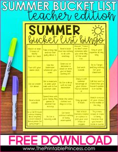 Summer Bucket List for Teachers