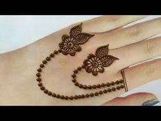 Floral style jewellery mehndi design for back hands Mehndi Designs For Kids, Mehndi Designs Feet, Back Hand Mehndi Designs, Mehndi Designs Book, Mehndi Designs For Beginners, Mehndi Design Photos, Mehndi Designs For Fingers, Latest Mehndi Designs, Mehandi Designs