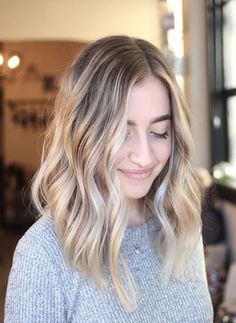 Color (and cut) inspo- Heavy Balayage Hair Painting for a beachy low maintenance blonde / sunkissed blonde/ hair ideas / hair inspo/ long blunt texture haircut Blonde Balayage Mid Length, Brown Blonde Hair, Blonde Color, Dark Hair, Blonde Bayalage, Mid Length Blonde Hair, Bronde Hair Balayage, Blonde Ombre Hair Medium, Neutral Blonde Hair