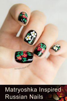 Russian Nails. Click for manicure details and how-to. #nailart #nails #cute