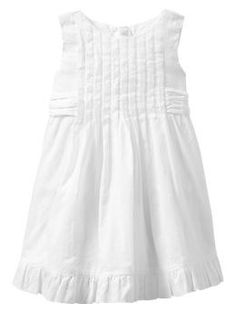 Pintuck bow dress Gap $39.95 - need to watch for this to go on sale for post baptism outfit for Maggie