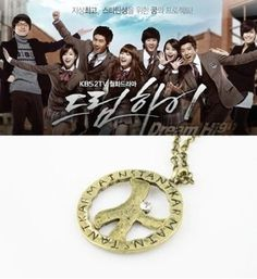 Korean Drama Dream High K Pendant Necklace (Chain Necklace) ** You can find out more details at the link of the image.
