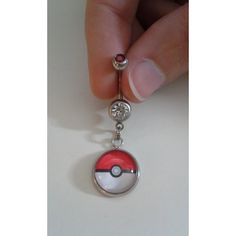 Pokemon Pokeball belly button ring on Etsy. Once I lose all the weight I've gained, a belly button piercing is my reward to myself. I want this barbell.