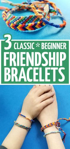 Learn how to make your own friendship bracelets! These 3 easy friendship bracelet patterns for beginners teach easy knotting for kids and tweens, teens and grown-ups. they are perfect starter projects. Credits: momsandcrafters.com