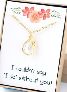 A personal favorite from my Etsy shop https://www.etsy.com/listing/228879559/bridesmaid-necklace-initial-charm