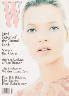 W Magazine's Supermodel Cover Girls - Kate Moss on the cover of W Magazine February 1995