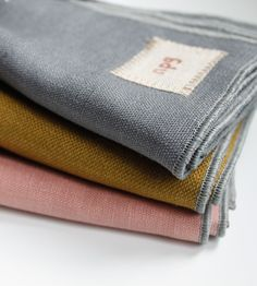 alder & co. / non perishable goods - reclaimed linen napkins Linen Towels, Linen Napkins, Napkins Set, Picnic Items, Fog Linen, Linens And More, Paper Embroidery, Sewing Material, Cocktail Napkins