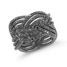 Dana Rebecca Designs - Jessica Sara Black Diamond Ring In 14k Black Rhodium