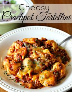 INGREDIENTS:  1 lb. Italian Sausage (We use HOT for the spice, but sub in the meat you'd like best!)  20 oz. Frozen Three-Cheese Tortellini (The Buitoni kind is in the specialty refrigerated case in the deli area Tortellini Recipes, Crock Pot Tortellini, Cheese Tortellini, Pasta Recipes, Dinner Recipes, Dinner Ideas, Cheese Recipes, Snack Recipes, Chicken Recipes