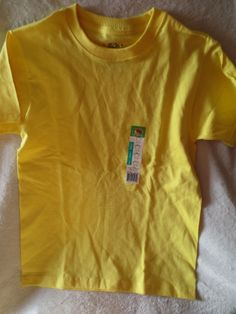 New Boy Fruit of Loom T-Shirt Yellow Size L 10/12  New #FruitoftheLoom #Everyday