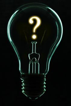 Do you have an idea you'd like to act on? Turn that question mark into a period or exclamation mark. Make a decision and go for it! Question Mark Gif, Light Bulb Art, Exclamation Mark, Young Avengers, Batman Universe, Riddler, Rogues, Typography, Lights