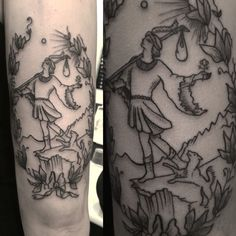 The fool tarot card tattoo by Kyra Bak
