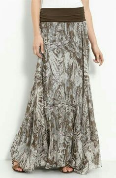 Willow & Clay Print Maxi Skirt available at Nordstrom Modest Outfits, Skirt Outfits, Modest Fashion, Dress Skirt, Dress Up, Cute Outfits, Printed Maxi Skirts, Chiffon Maxi Skirts, Paisley