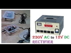 230v AC to 12v DC Rectifier Converting DIY Tutorial