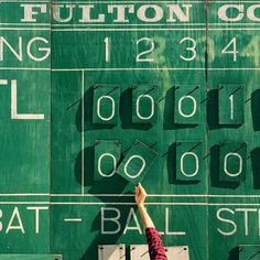 I once got beaned by the little league pitching machine.  Needless to say I wasn't a big fan of baseball.. but the old scoreboards are pretty neat. by connortd