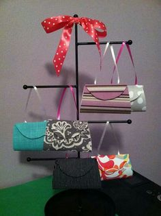 """""""Book a party pick a prize"""" tree. Using jewelry rack! Thirty One Totes, Thirty One Party, Thirty One Gifts, Mary Kay Party, Thirty One Business, Thirty One Consultant, Body Shop At Home, Jewelry Rack, 31 Bags"""