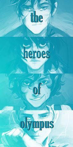 The Heroes of Olympus. Percy Jackson, Nico Di Angelo, Leo Valdez, and Jason Grace.                        especially Leo Valdez