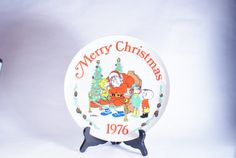 Dennis Menace Plate Christmas 1976 Collector by DoorCountyVintage