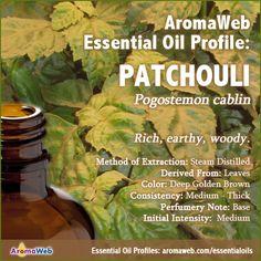 http://www.aromaweb.com/essential-oils/patchouli-oil.asp