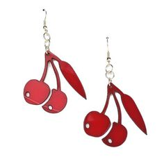 Cherries Earrings Red now featured on Fab.