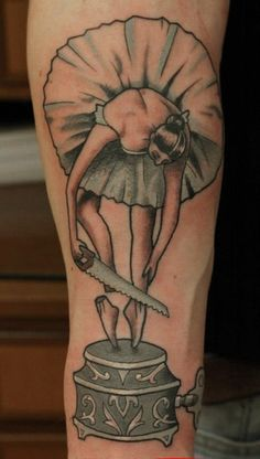 Fascinating and (dare I say it?) thought provoking ballerina tattoo. Well, to me anyway.