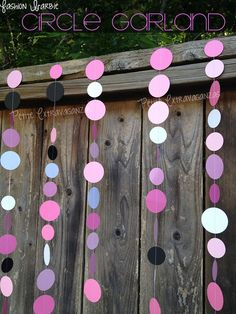 Barbie+Party+Paper+Circle+Garland+Bubblegum+by+PetiteExtravaganzas,+$10.00